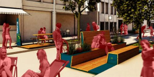 Beispielbild für den Einsatz der Stadt-Terrassen